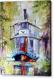 Bayou Taxi Waterscape Acrylic Print by Marcia Baldwin