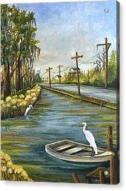 Bayou Terre Aux Boeufs Acrylic Print by Elaine Hodges