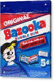 Bazooka Joe Acrylic Print by Russell Pierce