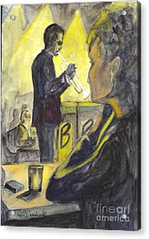 Bb Jazz Acrylic Print by Carol Wisniewski