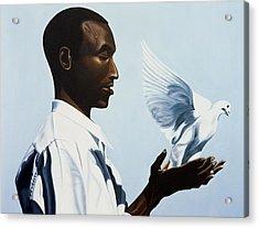 Be Free Three Acrylic Print by Kaaria Mucherera