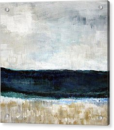 Beach- Abstract Painting Acrylic Print by Linda Woods