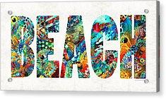Beach Art - Beachy Keen - By Sharon Cummings Acrylic Print by Sharon Cummings