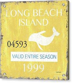 Beach Badge Long Beach Island 2 Acrylic Print by Debbie DeWitt