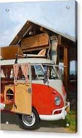 Beach Bus Acrylic Print by Ron Regalado