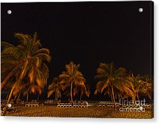 Beach By Night Acrylic Print by Charles Kozierok