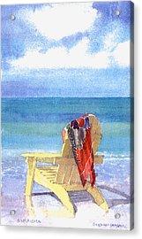 Beach Chair Acrylic Print by Shawn McLoughlin