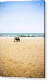 Beach Closed Acrylic Print by Colleen Kammerer