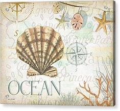 Beach Collage B Acrylic Print by Grace Pullen