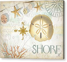 Beach Collage D Acrylic Print by Grace Pullen