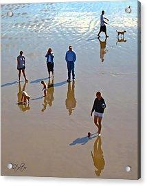 Beach Family Acrylic Print by Patricia Stalter