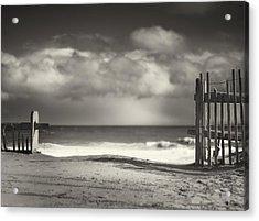 Beach Fence - Wellfleet Cape Cod Acrylic Print by Dapixara Art