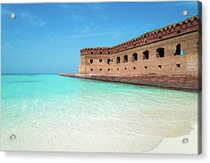 Beach Fort Acrylic Print by Kristopher Schoenleber
