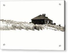 Beach House - Jersey Shore Acrylic Print by Angie Tirado