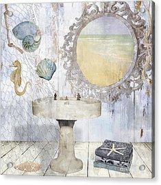 Beach House Bath II Acrylic Print by Mindy Sommers