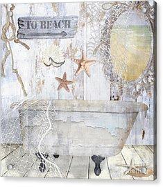 Beach House Bath Acrylic Print by Mindy Sommers