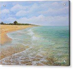Beach Krapets Acrylic Print by Kiril Stanchev