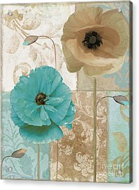 Beach Poppies Acrylic Print by Mindy Sommers