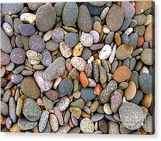 Beach Stones And Pebbles Acrylic Print by Sophie De Roumanie