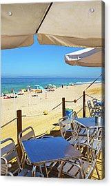 Beach Terrace Acrylic Print by Carlos Caetano