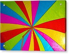 Beach Umbrella Acrylic Print by David Lee Thompson