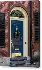 Beacon Hill Door  Acrylic Print by Susan Candelario