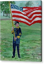 Beaming With American Pride Acrylic Print by Jeannie Allerton