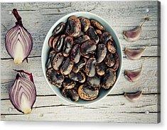Beans, Garlic And Onion Acrylic Print by Nailia Schwarz