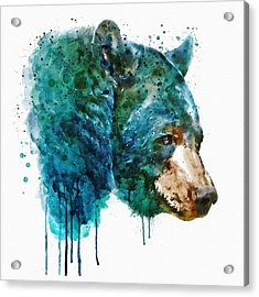Bear Head Acrylic Print by Marian Voicu