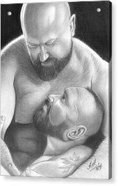 Bear Love 4 Acrylic Print by Brent  Marr