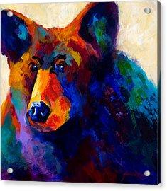 Beary Nice - Black Bear Acrylic Print by Marion Rose