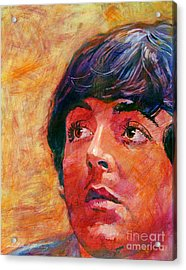 Beatle Paul Acrylic Print by David Lloyd Glover
