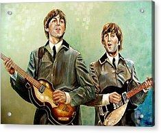Beatles Paul And John Acrylic Print by Leland Castro