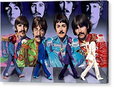 Beatles - Walk Away Acrylic Print by Ross Edwards