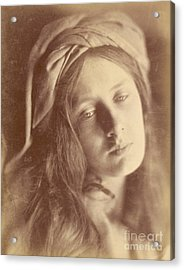 Beatrice Acrylic Print by Julia Margaret Cameron