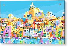 Beautiful Island Of Procido, Italy Acrylic Print by Inge Lewis