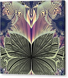 Beautiful Butterfly Ballet Fractal Acrylic Print by Rose Santuci-Sofranko
