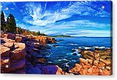 Beautiful Day At Acadia Acrylic Print by Bill Caldwell -        ABeautifulSky Photography
