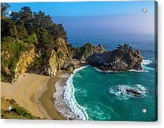 Beautiful Mcway Falls Cove Acrylic Print by Garry Gay