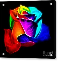 Beautiful Rose Of Colors Acrylic Print by Pamela Johnson
