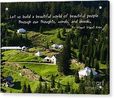 Beautiful World Of Beautiful People  Acrylic Print by Agnieszka Ledwon