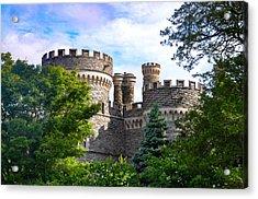 Beaver College Castle - Glenside Pennsylvania Acrylic Print by Bill Cannon