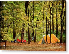Beaver's Bend Camping Acrylic Print by Tamyra Ayles