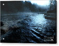 Beaver's Bend Fog Acrylic Print by Tamyra Ayles
