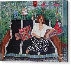 Becky At The Lake House Acrylic Print by Sherri Crabtree