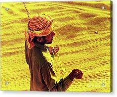 Bedouin Guide Acrylic Print by Elizabeth Hoskinson