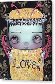 Bee Girl Acrylic Print by  Abril Andrade Griffith