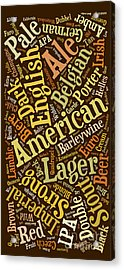 Beer Lover Cell Case Acrylic Print by Edward Fielding