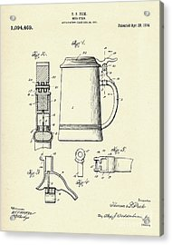 Beer Stein-1914 Acrylic Print by Pablo Romero