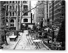 Before The Crowds At Bryant Park Acrylic Print by John Rizzuto